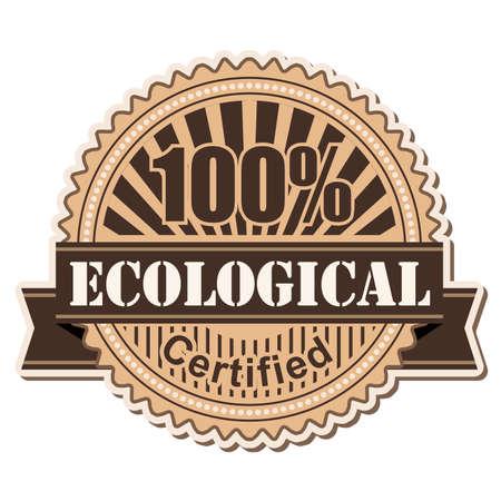 ecological: label Ecological vintage style design
