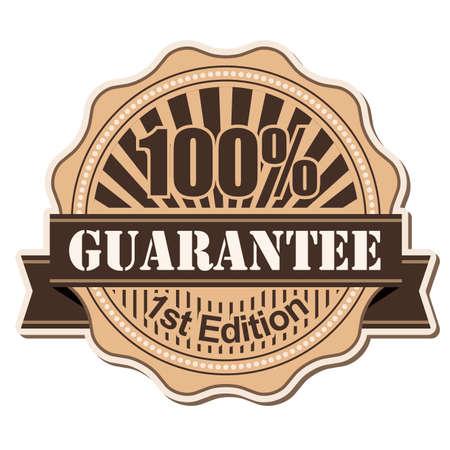 label Guarantee vintage style design Stock Photo