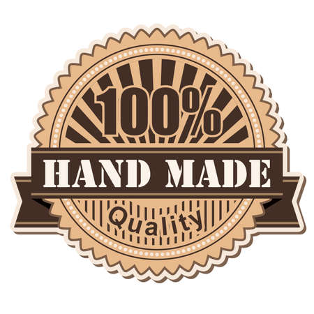 hand made: label Hand Made; vintage style design