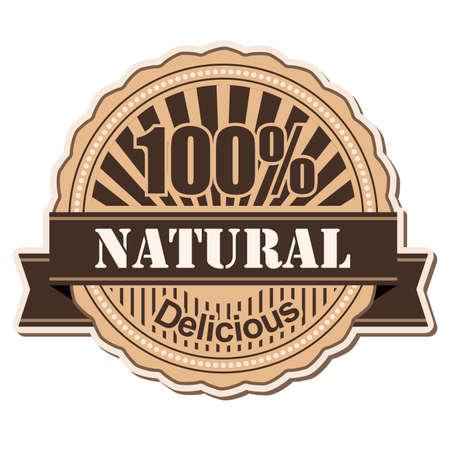 label Natural vintage style design