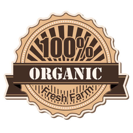 label Organic vintage style design