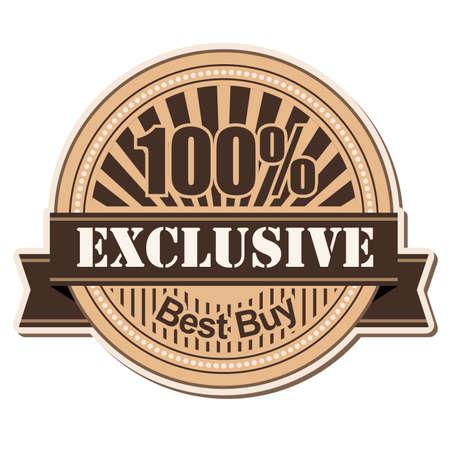 label Exclusive vintage style design