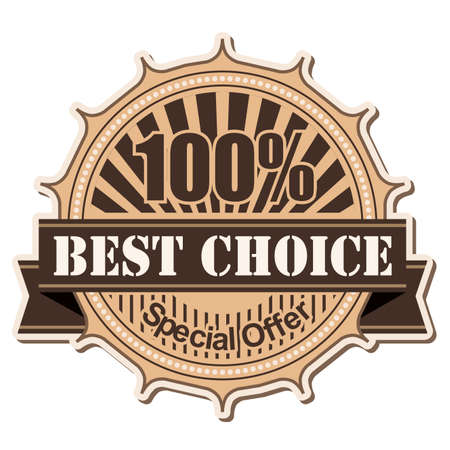 label Best Choice vintage style design