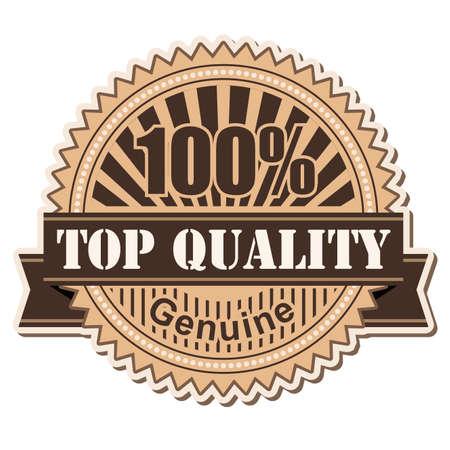 label Top Quality; vintage style design