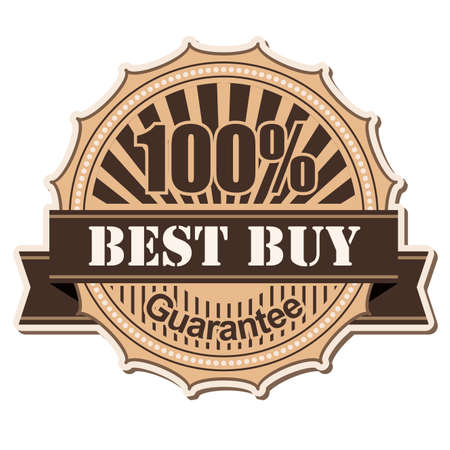 best buy: label Best Buy; vintage style design