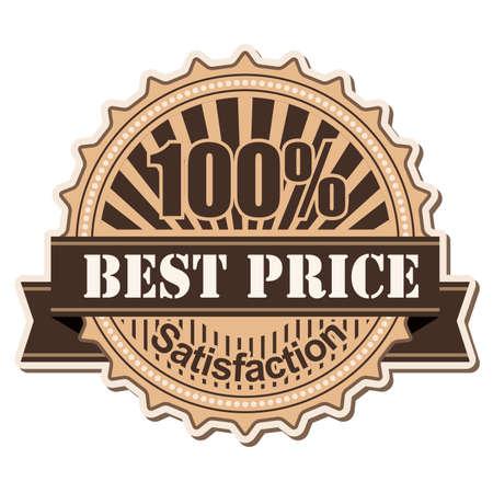 label Best Price vintage style design