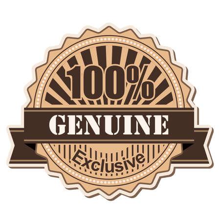 label Genuine vintage style design