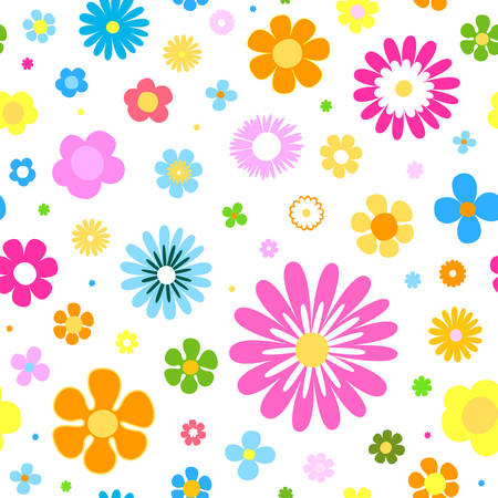 flowers background: flores de fondo sin fisuras Vectores