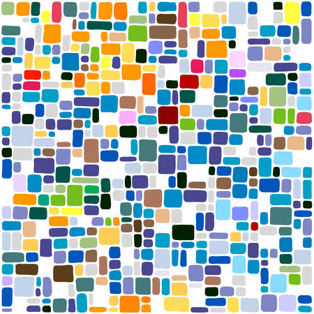 art design: tiles abstract background Illustration