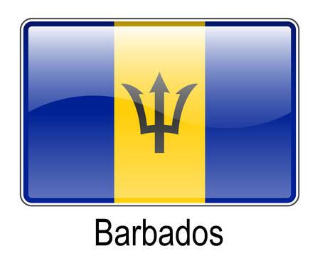 barbados: barbados official state button ball flag