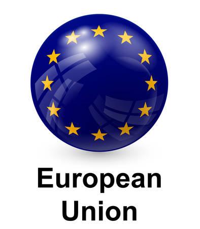 evropský: evropská unie státní vlajka Ilustrace