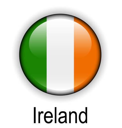 white flag: ireland state flag Illustration