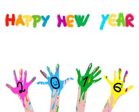 2016 bunte Hände