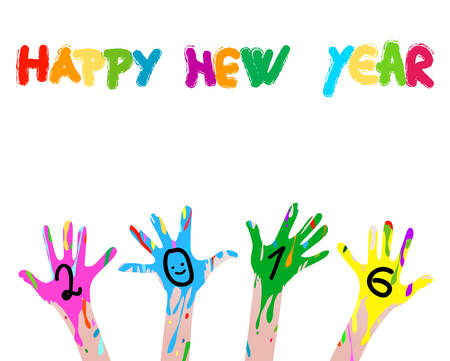 hapiness: 2016 colorful hands