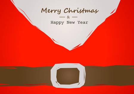 サンタ ベルト付きクリスマス カード