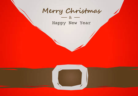 christmas card with Santa belt Иллюстрация