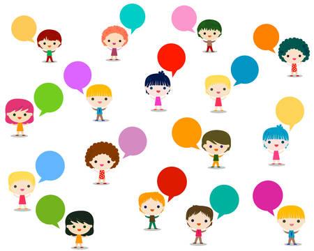 onderwijs: kinderen praten