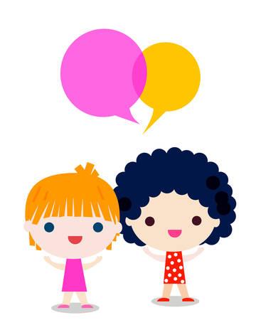 talking: girls talking Illustration