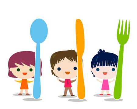 kindermenu achtergrond afbeelding Stock Illustratie