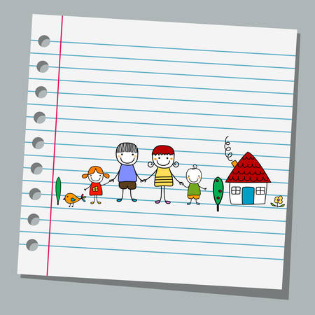 notebook paper: notebook paper with family