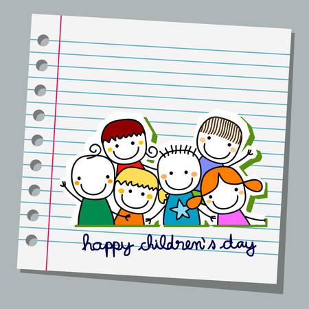 notebook paper happy children day