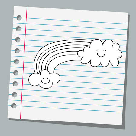 notebook paper: notebook paper with rainbow