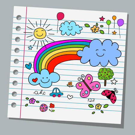 naive: notebook paper happy summer day