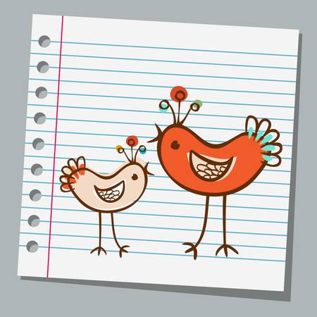 notebook paper: notebook paper cute bird
