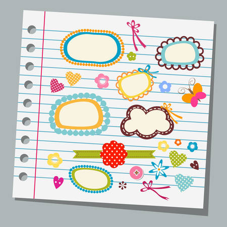 notepads: notebook paper child drawings