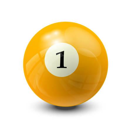 billiard ball: billiard ball 1- realistic vector design Illustration
