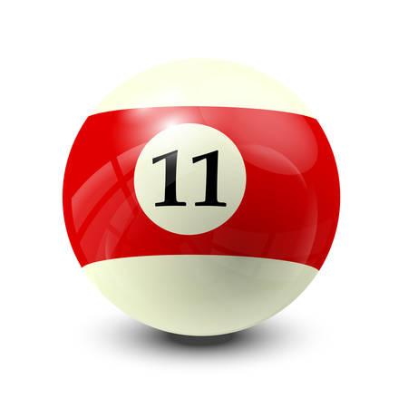 billiard balls: billiard ball 11- realistic vector design