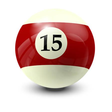 billiard: billiard ball 15- realistic vector design