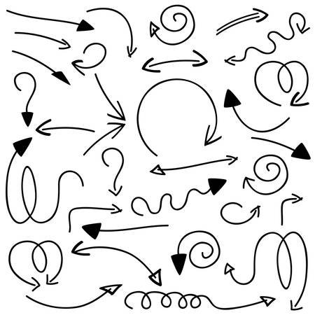 curve arrow: set of arrows on white