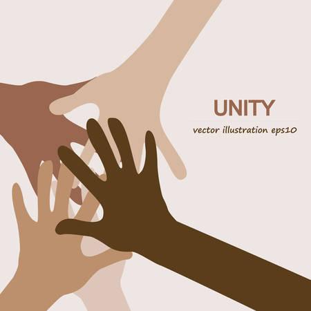 多様な団結の背景を手します。