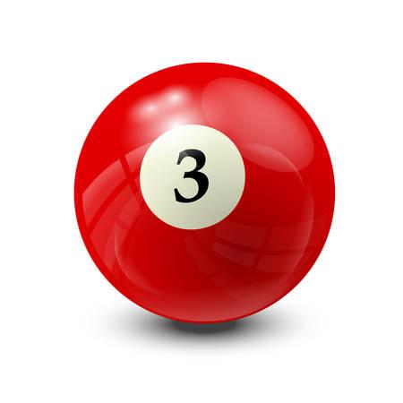 billiard ball: billiard ball 3- realistic vector design