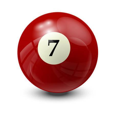 billiard ball: billiard ball 7- realistic vector design Illustration