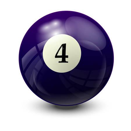 billiard ball: billiard ball 4- realistic vector design