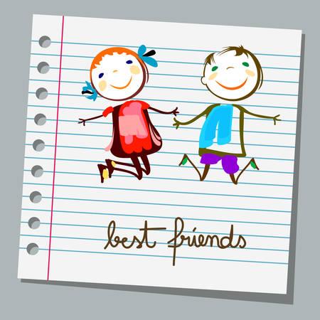 mejores amigas: blocs de notas de los mejores amigos