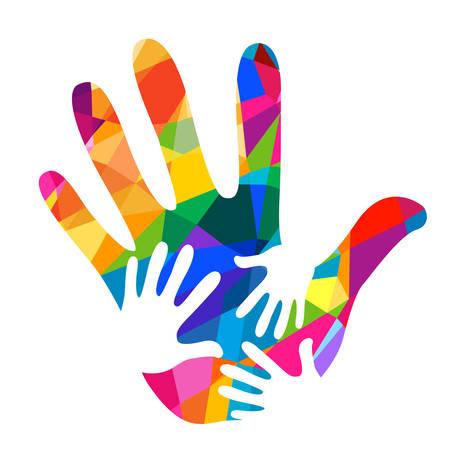 hands helping illustration background Illustration