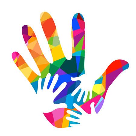oneness: hands helping illustration background Illustration