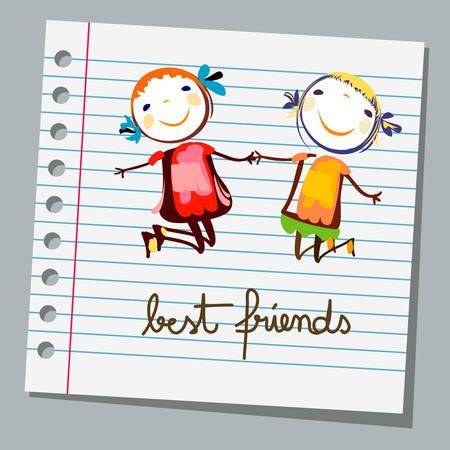 blocs de notas de los mejores amigos