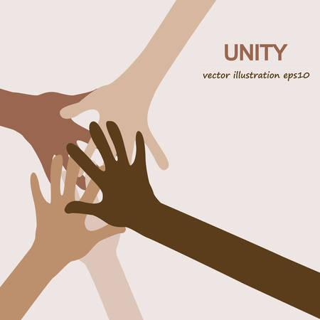 diversidad: manos diversa unidad de fondo