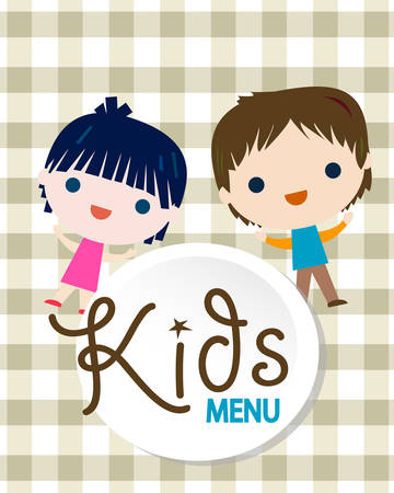 kids menu background illustration
