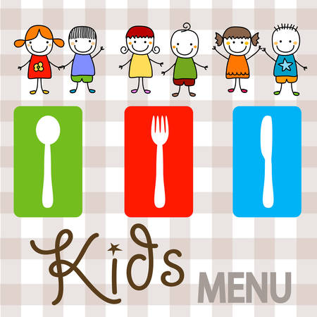 kids menu background design illustration Illustration