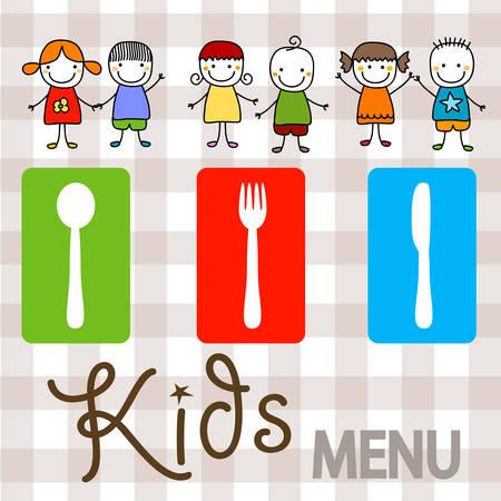 kids menu background design illustration Illustration