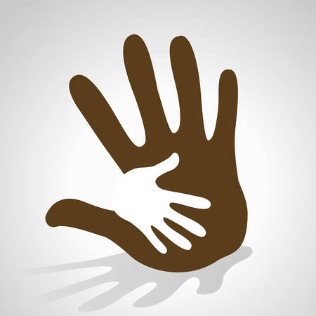 hands helping illustration background Illustration