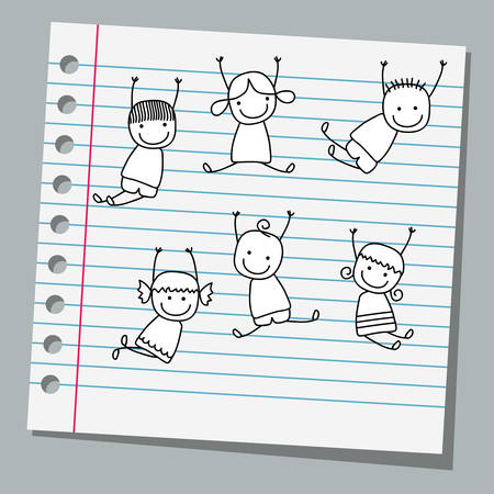 notebook paper: notebook paper happy kids playing