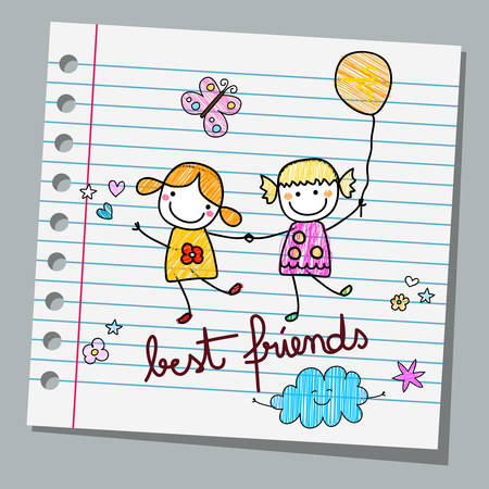 notebook paper best friends