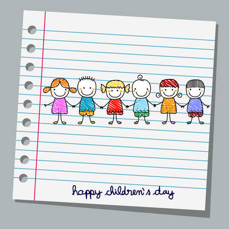 notebook paper: notebook paper happy children day