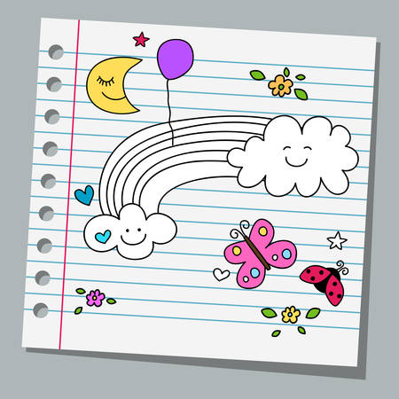 notebook paper: notebook paper with butterfly